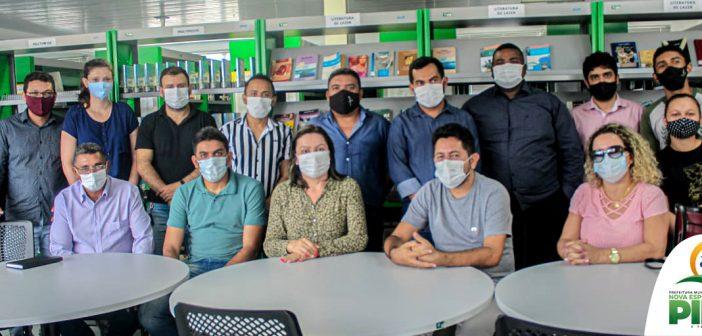 Secretários, vereador, Engenheiros Ambiental e Agrônoma, visitam Polo da UFRA (Universidade Rural da Amazônia) em Capitão Poço/PA.